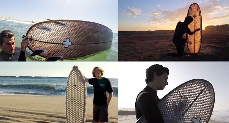 ¿Conoces las tablas de Surf hechas con cartón?